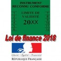 Ticket / agréée en métrologie / Loi de finance 2018